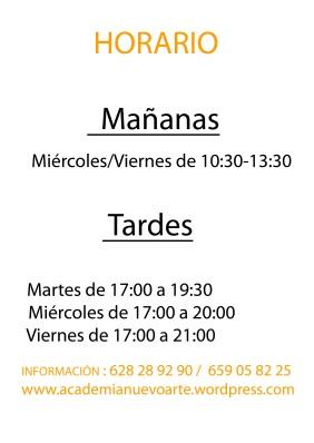horario 2013