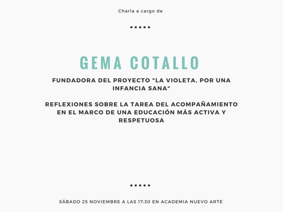 Charla a cargo de Gema Cotallo, cofundadora de LaVioleta