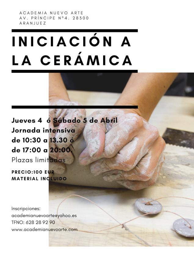 Curso básico de iniciación a la cerámica.Intensivo